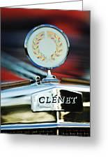 1979 Clenet Hood Ornament -176c Greeting Card