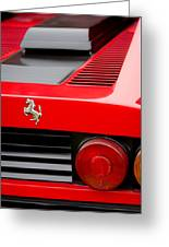 1979 Ferrari Taillight Emblem -0378c Greeting Card