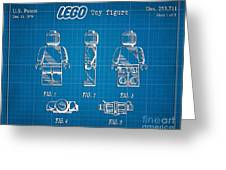 1979 Lego Minifigure Toy Patent Art 1 Greeting Card