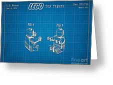1979 Lego Minifigure Toy Patent Art 3 Greeting Card