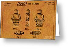 1979 Lego Minifigure Toy Patent Art 4 Greeting Card