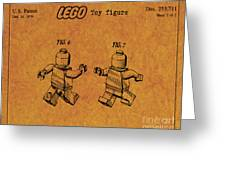 1979 Lego Minifigure Toy Patent Art 5 Greeting Card
