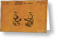 1979 Lego Minifigure Toy Patent Art 6 Greeting Card