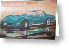 1980 Chevrolet Corvette/reflections Greeting Card