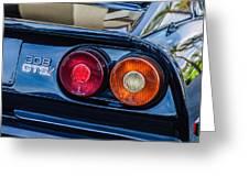 1980 Ferrari 308 Gtsi Taillight Emblem -0027c Greeting Card