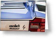 1982 Lamborghini Countach 5000s Taillight Emblem -0453c Greeting Card