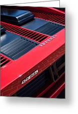 1984 Ferrari 512 Bbi By Pininfarina Rear Emblems -0822c Greeting Card