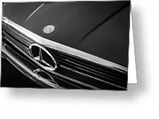 1984 Mercedes 500 Sl Convertible Bw Greeting Card