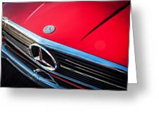 1984 Mercedes 500 Sl Convertible Greeting Card