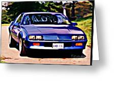 1985 Chev Camero Greeting Card