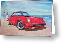 1985 Porsche 911 Targa Greeting Card