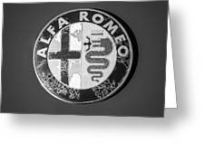 1986 Alfa Romeo Spider Quad Emblem Greeting Card
