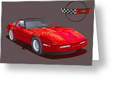 1986 Corvette Greeting Card