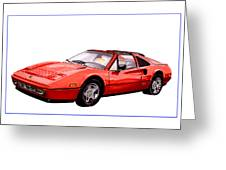 Ferrari 328 G T S 1986 Greeting Card