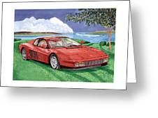1987 Ferrari Testarosa  Greeting Card