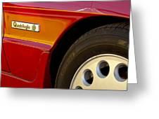 1988 Alfa Romeo Spider Quad Emblem Greeting Card by Jill Reger