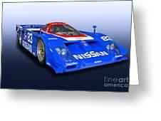 1988 Nissan Zx-gtp Race Car Greeting Card