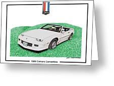 1989 Camaro Convertible Greeting Card