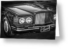 1990 Bentley Turbo R Bw Greeting Card