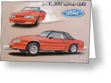 1991 Ford Mustang Greeting Card