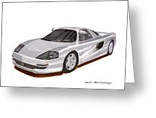 1991 Mercedes Benz C 112 Concept Greeting Card