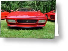 1993 Red Ferrari 512 Tr Greeting Card