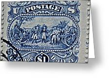 1994 Battle Of Saratoga Stamp Greeting Card
