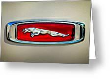 1995 Jaguar Emblem Greeting Card