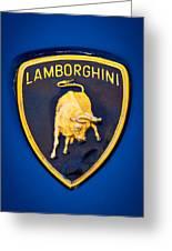 1995 Lamborghini Diablo Emblem Greeting Card