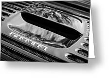 1997 Ferrari F 355 Spider Rear Emblem -117bw Greeting Card