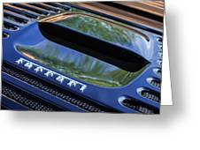 1997 Ferrari F 355 Spider Rear Emblem -117c Greeting Card