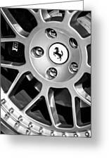1997 Ferrari F 355 Spider Wheel Emblem -125bw Greeting Card