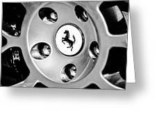 1997 Ferrari F 355 Spider Wheel Emblem -201bw Greeting Card