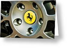 1997 Ferrari F 355 Spider Wheel Emblem -201c Greeting Card