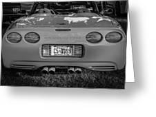 1999 Chevrolet Corvette Bw  Greeting Card