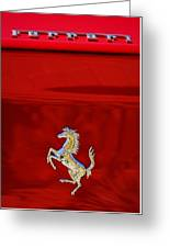 1999 Ferrari 550 Maranello Emblem -651c Greeting Card
