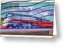 1999 Hiawatha Train Stamp Greeting Card