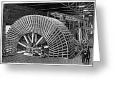 19th C Egyptian Hydraulic Factory Greeting Card