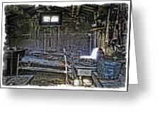 19th Century Miner's Cabin - Montana Greeting Card