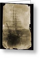 19th Century Schooner Greeting Card