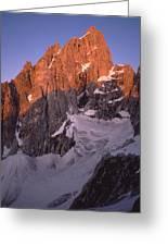 1m9380-sunrise On The North Face Of Grand Teton Greeting Card