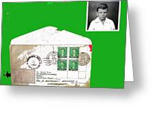1st Day Cover 1950 Manila Philippine Islands David Lee Guss 1949 Passport Photo  Collage 1950-2012 Greeting Card