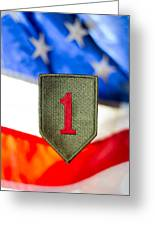 1st Infantry Division Greeting Card
