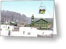 1st Snow At Hidden Valley Greeting Card