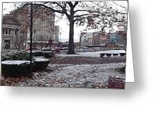 1st Snow Public Square Greeting Card