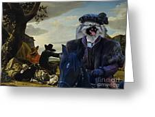 Keeshond Art Canvas Print Greeting Card