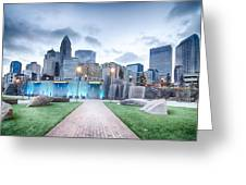 New Romare-bearden Park In Uptown Charlotte North Carolina Earl Greeting Card