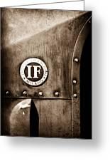 1913 Isotta Fraschini Tipo Im Emblem Greeting Card
