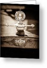 1915 Saxon Roadster Hood Ornament Greeting Card