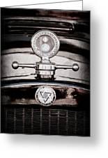 1928 Dodge Brothers Hood Ornament - Moto Meter Greeting Card